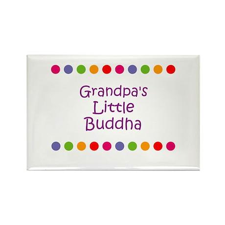 Grandpa's Little Buddha Rectangle Magnet