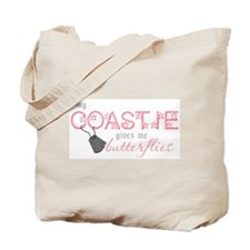 My Coastie gives me butterfli Tote Bag