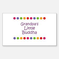 Grandpa's Little Buddha Rectangle Decal