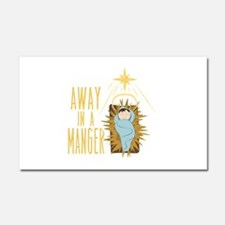 Away In Manger Car Magnet 20 x 12