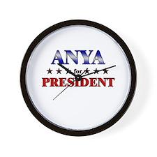 ANYA for president Wall Clock