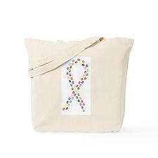 Multicolor Paws Ribbon Tote Bag