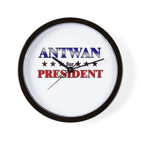 ANTWAN for president Wall Clock