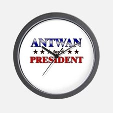 ANTWAN for president Wall Clock
