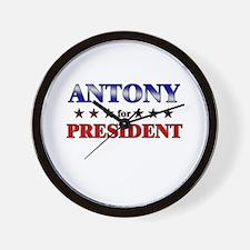 ANTONY for president Wall Clock