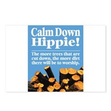 Calm Down Hippie! Postcards (Package of 8)
