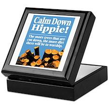 Calm Down Hippie! Keepsake Box