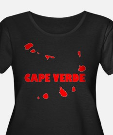 Cape Verde Scoop Neck Plus Size T-Shirt