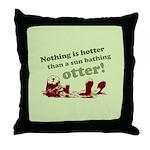 Sun Bathing Otter Throw Pillow