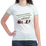 Sun Bathing Otter Jr. Ringer T-Shirt