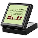 Sun Bathing Otter Keepsake Box