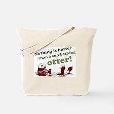 Sun Bathing Otter Tote Bag