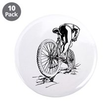 "Ride. Mountain Biker 3.5"" Button (10 pack)"