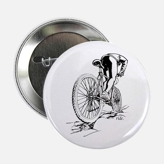 """Ride. Mountain Biker 2.25"""" Button (10 pack)"""