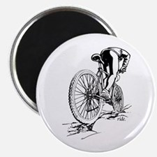 "Ride. Mountain Biker 2.25"" Magnet (100 pack)"