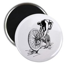 "Ride. Mountain Biker 2.25"" Magnet (10 pack)"