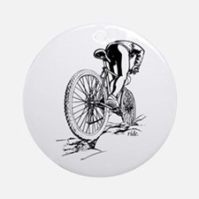 Ride. Mountain Biker Ornament (Round)