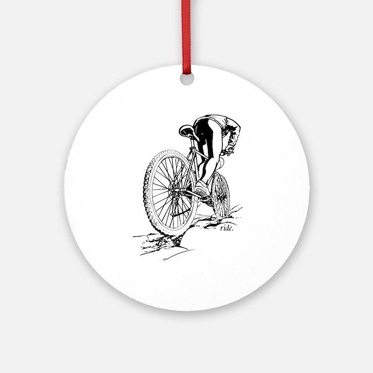 Ride. Mountain Biker Ornament (Round)