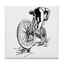 Ride. Mountain Biker Tile Coaster