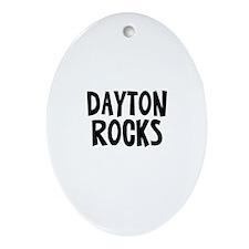 Dayton Rocks Oval Ornament