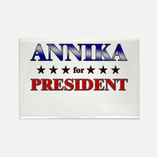 ANNIKA for president Rectangle Magnet
