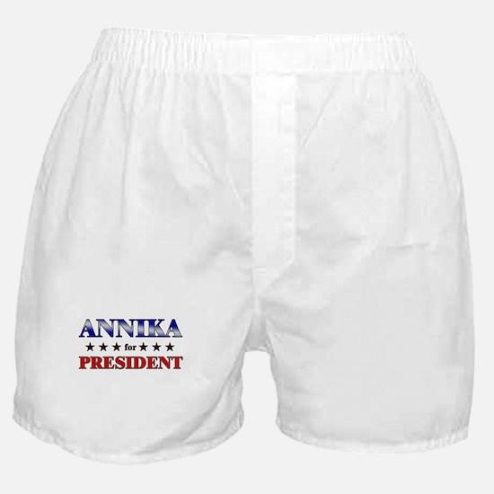 ANNIKA for president Boxer Shorts