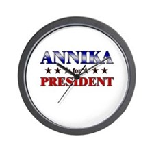 ANNIKA for president Wall Clock