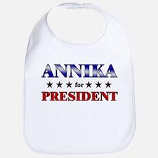 ANNIKA for president Bib