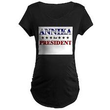 ANNIKA for president T-Shirt
