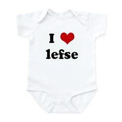 I Love lefse Infant Bodysuit