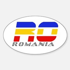 Romanian Car Decal Oval Decal