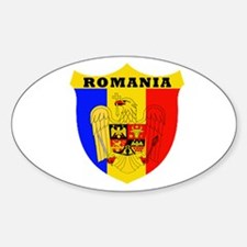 Romanian Oval Decal