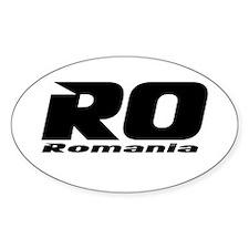 Romanian Car Oval Decal