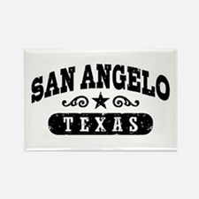 San Angelo Texas Rectangle Magnet