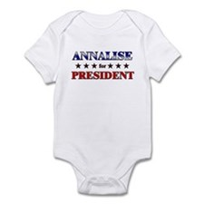 ANNALISE for president Infant Bodysuit