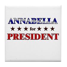 ANNABELLA for president Tile Coaster