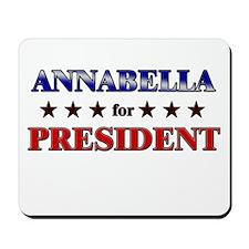ANNABELLA for president Mousepad