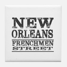 NEW ORLEANS FRENCHMEN STREET Tile Coaster
