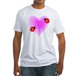 Ladybug Love Fitted T-Shirt