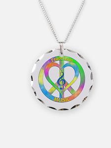Peace Love Music Necklace