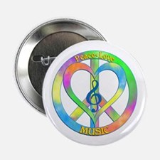 """Peace Love Music 2.25"""" Button (10 pack)"""