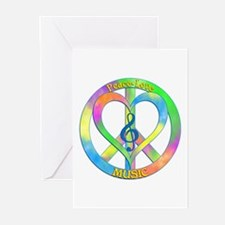 Peace Love Music Greeting Cards (Pk of 10)