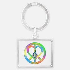 Peace Love Music Landscape Keychain