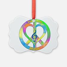 Peace Love Music Ornament