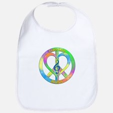 Peace Love Music Bib
