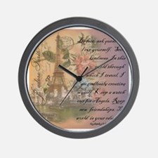 ParisABCDE12.jpg Wall Clock