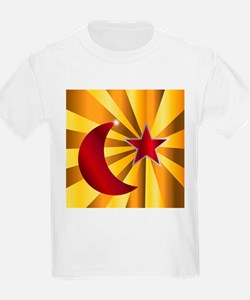 Muslim Crescent Moon With Star T-Shirt