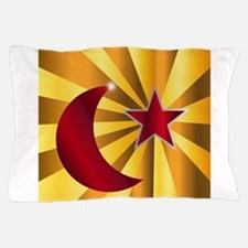 Muslim Crescent Moon With Star Pillow Case