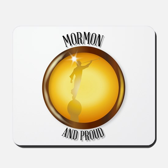 Mormon And Proud Button Mousepad