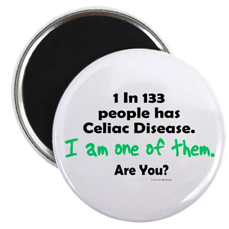 "1 In 133 Has Celiac Disease 1.1 2.25"" Magnet (10 p"